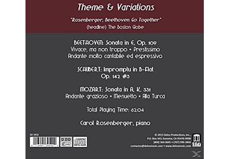 Carol Rosenberger - Theme & Variations  - (CD)