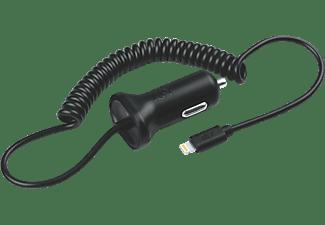 ISY USB Car Charger with lightning cable, 2.4 A KFZ-Ladegerät Apple, Schwarz