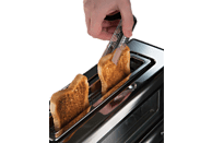 RUSSELL HOBBS 21310-56 Clarity Toaster Edelstahl, Schwarz, Glas (1000 Watt, Schlitze: 1)