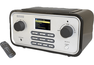 ALBRECHT DR 315 C Internetradio, Digitalradio, Schwarz/Silber