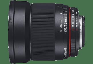 SAMYANG 1120703101 - 16 mm f/2 für Nikon F-Mount, Schwarz)