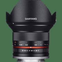 SAMYANG MF 12mm F2.0 APS-C  12 mm f/2  (Weitwinkelobjektiv für Sony E-Mount, Schwarz)