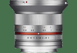 SAMYANG 1220510102 - 12 mm f/2 für Fuji X-Mount, Silber)
