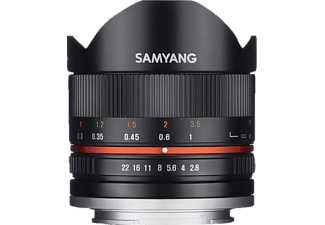 SAMYANG MF 8mm F2.8 Fisheye II APS-C - 8 mm f/2.8 für Fuji X-Mount, Schwarz)