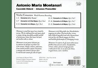 Johannes Pramsohler - Montanari-Violinkonzerte  - (CD)