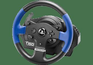 THRUSTMASTER T150 RS (inkl. 2-Pedalset, PS4 / PS3 / PC) Kompatibel mit PS5-Spielen, Lenkrad, Schwarz/Blau