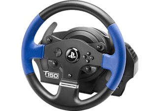 THRUSTMASTER PS4 T150 RS WHEEL - Force Feedback Lenkrad inkl. Pedalerie (Gas/Bremse) (blau, schwarz)