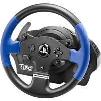 THRUSTMASTER T150 RS (inkl. 2-Pedalset, PS4 / PS3 / PC) , Lenkrad, Schwarz/Blau