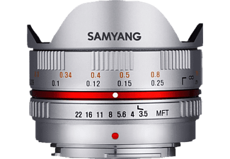 SAMYANG 7.5MM/F3.5 FISH-EYE M4/3 SILVER - Objectif à focale fixe (Argent)