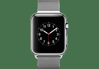 APPLE Watch 38 mm Edelstahlgehäuse mit Milanaise-Armband (MJ322FD/A) Smart Watch Edelstahl, Silber