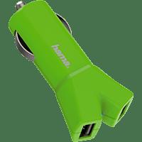 HAMA Color Line Kfz-Ladeadapter, Grün
