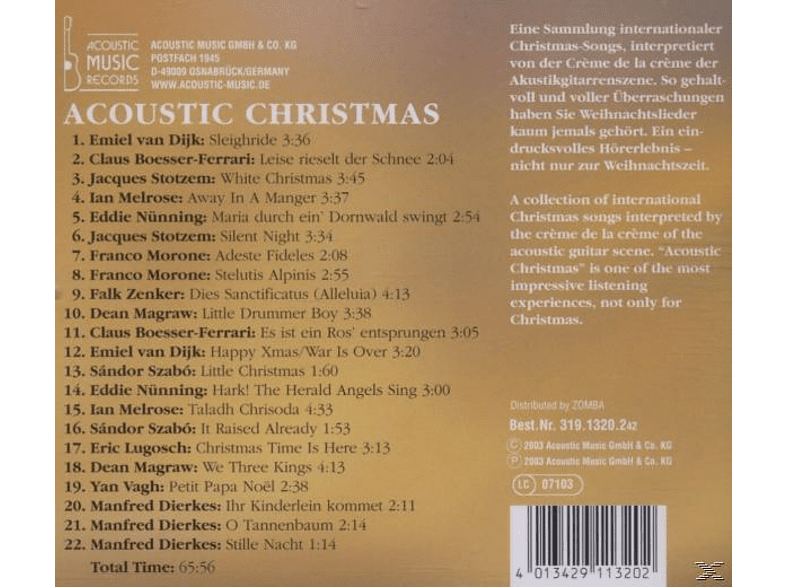 VARIOUS - Acoustic Christmas [CD]