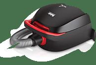 FAKIR Red Vac (mit Beutel, EPA-Filter, Rot/Schwarz)