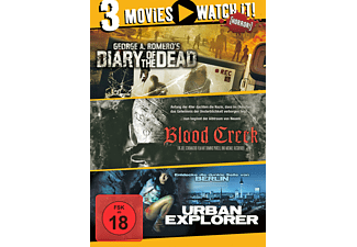3er Collection: Diary of the Dead + Blood Creek + Urban Explorer DVD