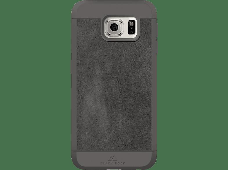BLACK ROCK Suede , Backcover, Samsung, Galaxy S6, Kunststoff/Echtleder/Polyurethan/Thermoplastisches Polyurethan, Grau