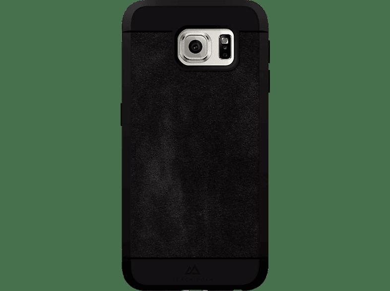 BLACK ROCK Suede , Backcover, Samsung, Galaxy S6, Kunststoff/Echtleder/Polyurethan/Thermoplastisches Polyurethan, Schwarz