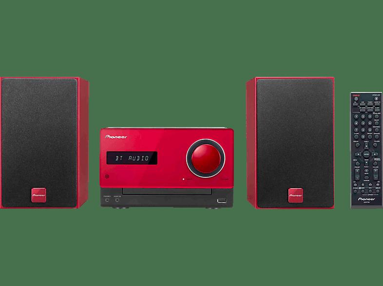 PIONEER X-CM35 R Micro Anlage (iPod Steuerung, Rot)