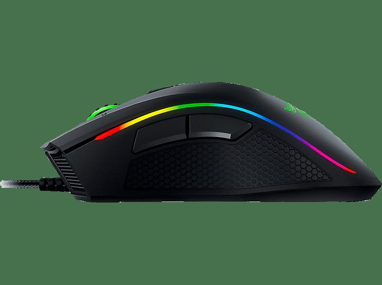 RAZER Mamba Tournament Edition Gaming Maus, Schwarz mit Mehrfarbiger-Beleuchtung