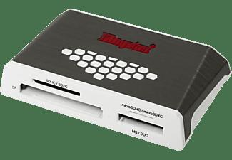 KINGSTON FCR-HS 4 USB3.0, Kartenleser, Silber/Weiß