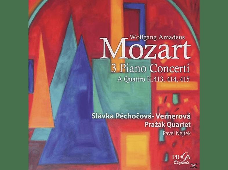 Prazak Quartet Slavka Pechocova-vernerova, Pechocova-Vernerova/Prazak Quartet - Klavierkonzerte KV 413/414/415 [SACD Hybrid]