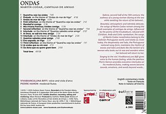 Vivabiancaluna Biffi, Pierre Hamon - Ondas-Cantigas De Amigo  - (CD)