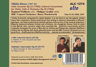 Raphael Wallfisch, BBC Concert Orchestra, Barry Wordsworth, Philippe Graffin - Cellokonzert Op.32 / Sinfonia Concertante Op.29  - (CD)