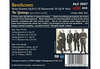 The Lindsays - String Quartets Op.59 Nos. 1-3 ´ Razumovsky´ & String Quartet Op.74 ´ Harp´  - (CD)