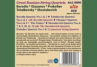 Borodin Quartet/American String Quartet - Great Russian String Quartets  - (CD)