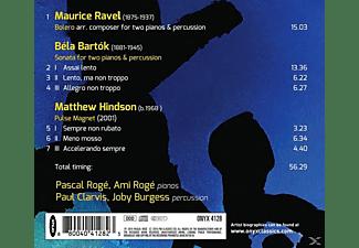 Pascal Roge, Ami Rogé, Paul Clarvis, Joby Burgess - Musik Für Zwei Klaviere Und Schlagzeug  - (CD)