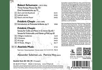 Suleiman,A./Hoy,P. - Sonaten Und Fantasiestücke Für Cello Und Klavier  - (CD)