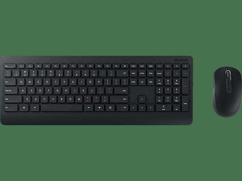 MICROSOFT Wireless Desktop 900, Tastatur-Maus Set, Schwarz