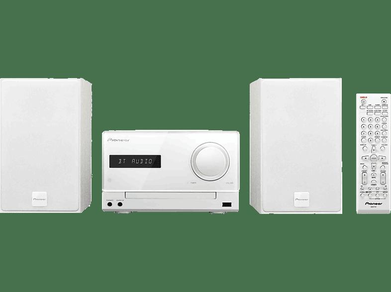 PIONEER X-CM35 W  Micro Anlage (iPod Steuerung, Weiß)