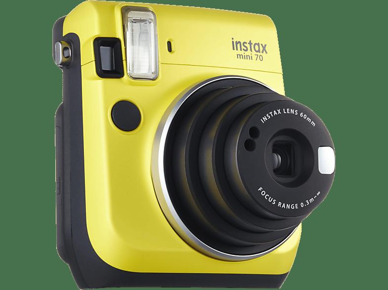 FUJIFILM Instax Mini 70 Sofortbildkamera, Gelb
