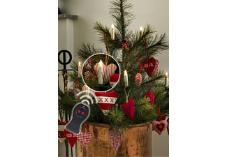 KONSTSMIDE 1901-100 10-tlg. kabellose LED Baumbeleuchtung, Weiß, Warmweiß