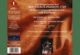 Ton Koopman, Mertens, Amsterdam Baroque Orchestra - Carl Philipp Emanuel Bach: Matthäus Passion 1769  - (CD)