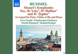 Uwe Grodd, Friedemann Eichhorn, Martin Rummel, Roland Krüger - Sinfonien 35, 36, 41 (Arr.J.N.Hummel)  - (CD)