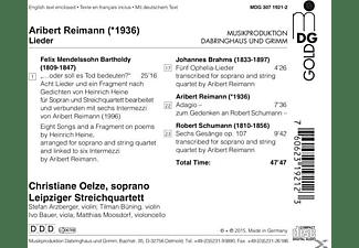 Christiane Oelze, Leipziger Streichquartett - Lieder  - (CD)