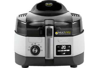 DELONGHI FH1394/1 MultiFry Extra Chef Fritteuse, Schwarz/Grau
