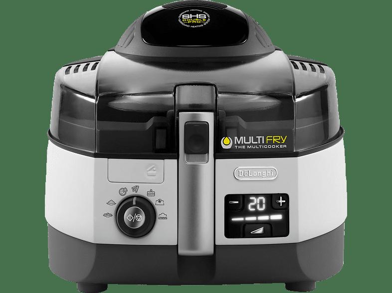 DELONGHI FH1394/1 MultiFry Extra Chef Fritteuse, Schwarz/Grau