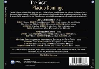 Plácido Domingo - The Great Placido Domingo  - (CD)