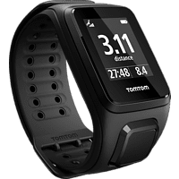 TOMTOM Spark Cardio Large, GPS-Fitnessuhr, L (143-206 mm), Schwarz