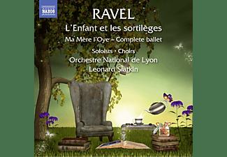 Leonard Slatkin, Helene Hebrard, Delphine Galou, Julie Pasturaud, Orchestre National De Lyon, Jean-paul Fouchécourt - L'enfant Et Les Sortileges/Ma Mere L'oye  - (CD)
