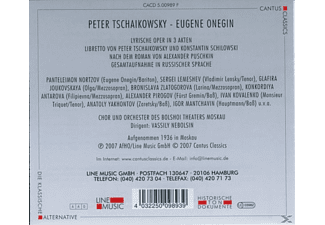 ORCH.D.BOLSHOI THEATERS MOSKAU - Eugene Onegin  - (CD)