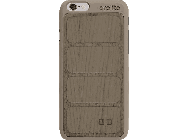 ORA ITO Wood Cover Ita , Backcover, Apple, iPhone 6, iPhone 6S, Grau