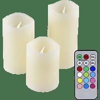 OLYMPIA 40138 IOIO 3-tlg.  LED Kerzen-Set Mehrfarbig