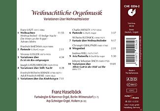 Franz Haelböck - Weihnachtliche Orgelmusik-Variationen  - (CD)