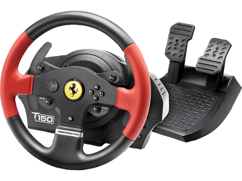 Thrustmaster T150 Ferrari Edition (Lenkrad inkl. 2-Pedalset, PS4 / PS3 PC)