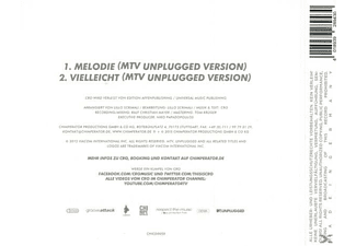 Cro - Melodie - Mtv Unplugged  - (5 Zoll Single CD (2-Track))