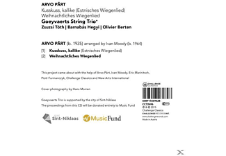 Goeyvaerts String Trio - Kusskuss, Kallike-Weihnachtliches Wiegenlied  - (Maxi Single CD)