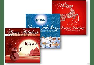 VARIOUS - Weihnachtskarten 5er-Pack: Rentier - Nacht - Schneemann  - (CD)